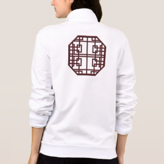 Mahogany Chinese Knotwork Pixel Art Jacket