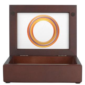 mahogany-colored wood. Unique Round Graphics Keepsake Box