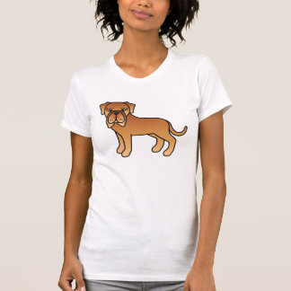 Mahogany Cute Cartoon Neapolitan Mastiff Dog T-Shirt