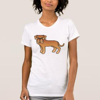 Mahogany Cute Cartoon Neapolitan Mastiff Dog Tee Shirts