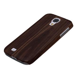 Mahogany Dark Wood Grain Texture Samsung Galaxy S4 Cover