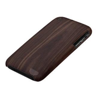 Mahogany Dark Wood Grain Texture iPhone 3 Covers