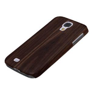 Mahogany Dark Wood Grain Texture Samsung Galaxy S4 Case