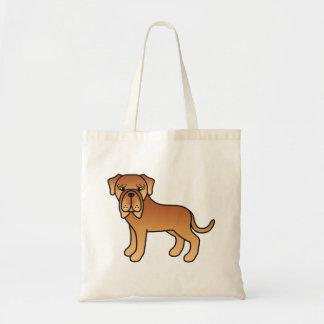Mahogany Neapolitan Mastiff Cartoon Dog Tote Bag