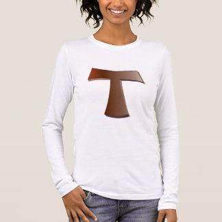 Mahogany Tau Cross and prayer T-shirt