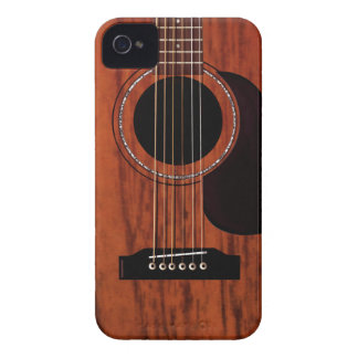 Mahogany Top Acoustic Guitar iPhone 4 Case-Mate Case