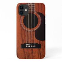 Mahogany Top Acoustic Guitar iPhone 11 Case