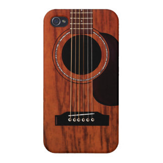 Mahogany Top Acoustic Guitar iPhone 4 Covers