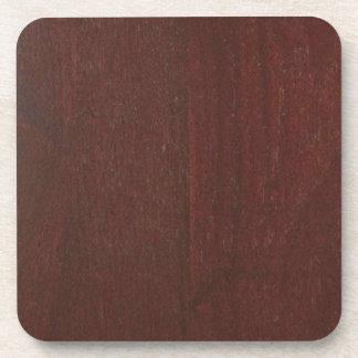 MAHOGANY Wood Finish BUY Blank Blanche add TEXT Coaster
