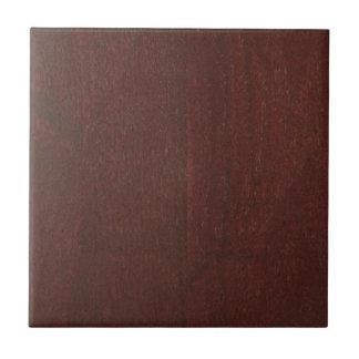 MAHOGANY Wood Finish BUY Blank Blanche add TEXT Tile