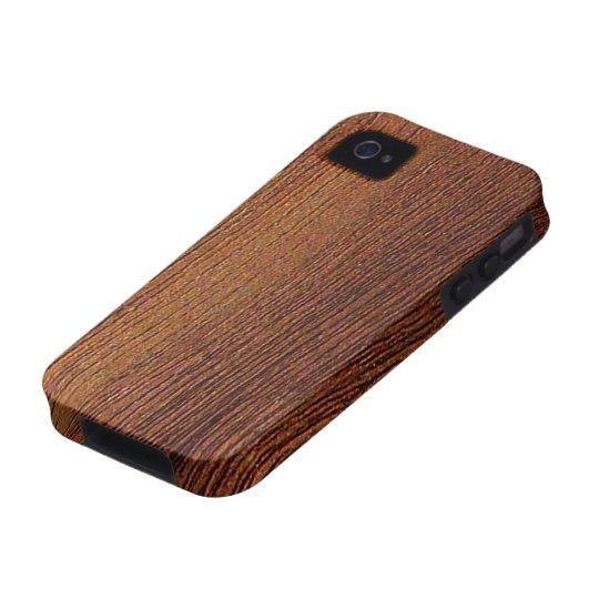 Mahogany Wood Grain Case-Mate iPhone 4 Case