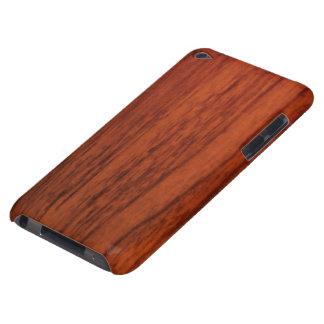 Mahogany Wood Print Barely There iPod Case