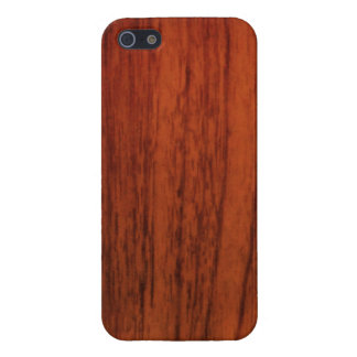 Mahogany Wood Print Cover For iPhone SE/5/5s
