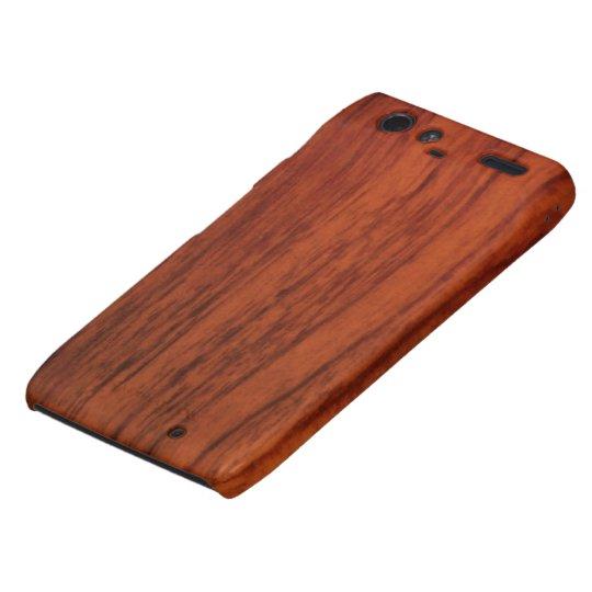 Mahogany Wood Print Droid RAZR Cover