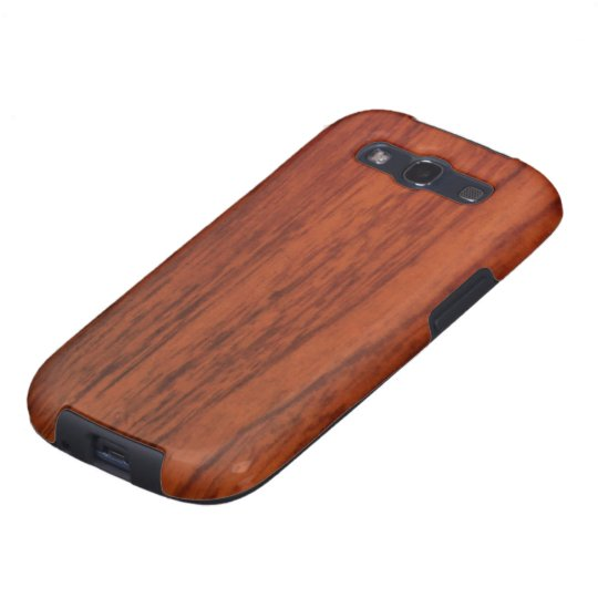 Mahogany Wood Print Galaxy S3 Case
