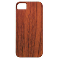 Mahogany Wood Print iPhone 5 Covers