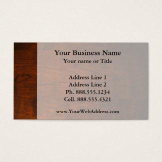 Mahogany Wood Texture Business Card
