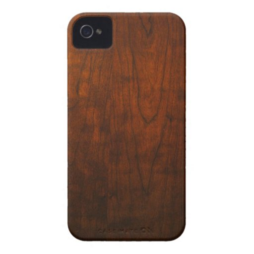Mahogany Wood Texture Case-Mate iPhone 4 Cases