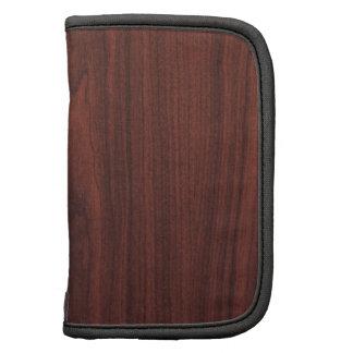 Mahogany Wood Texture Folio Planner