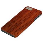 Mahogany Wood Tough iPhone 6 Plus Case