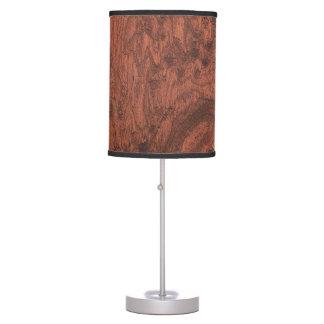 Mahogany Wood Veneer Table Lamp