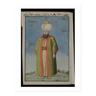 Mahomet (Mehmed) I (1387-1421), Sultan 1413-21, fr Postcard