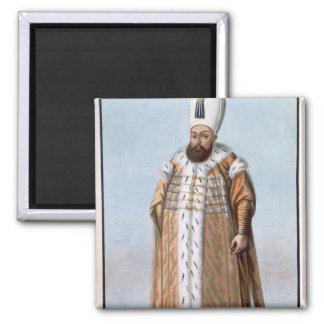 Mahomet (Mehmed) III (1566-1603) Sultan 1595-1603, 2 Inch Square Magnet