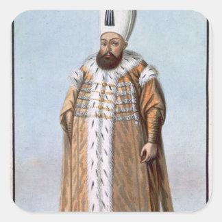 Mahomet (Mehmed) III (1566-1603) Sultan 1595-1603, Square Sticker