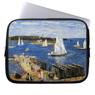 Mahone Bay by William Glackens Computer Sleeve