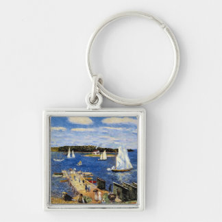 Mahone Bay by William Glackens Keychains