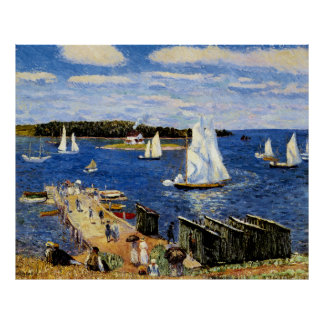 Mahone Bay by William Glackens Poster