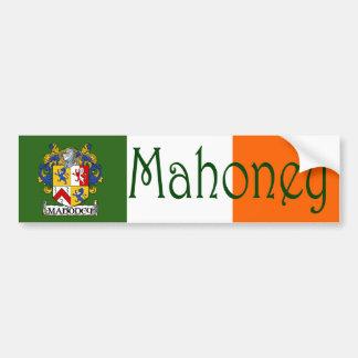 Mahoney Coat of Arms Flag Bumper Sticker Car Bumper Sticker