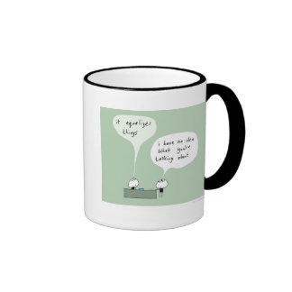 mahoney joe - the salesman ringer coffee mug