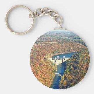 Mahoning Creek Lake and Dam Basic Round Button Keychain