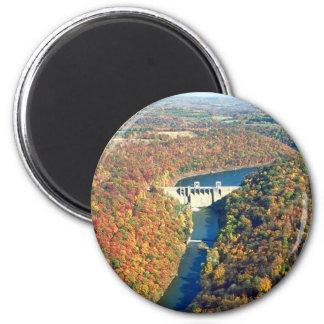 Mahoning Creek Lake and Dam 2 Inch Round Magnet