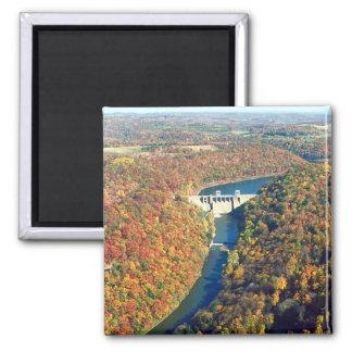 Mahoning Creek Lake and Dam 2 Inch Square Magnet