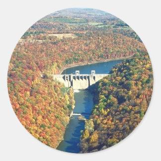 Mahoning Creek Lake and Dam Classic Round Sticker