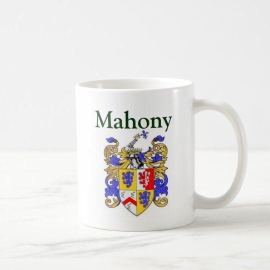 Mahony coat of arms coffee mug