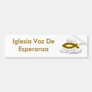 maHOu-arteparaJesus135, Iglesia Voz De Esperanza Pegatina Para Auto