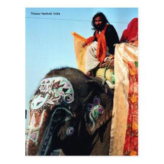 Mahoud on elephant postcard