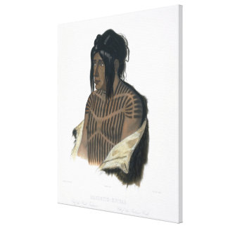 Mahsette-Kuiuab, Chief of the Cree Indians, plate Canvas Print