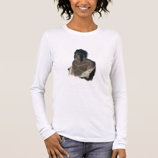 Mahsette-Kuiuab, Chief of the Cree Indians, plate Long Sleeve T-Shirt