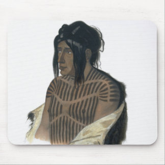 Mahsette-Kuiuab, Chief of the Cree Indians, plate Mouse Pad