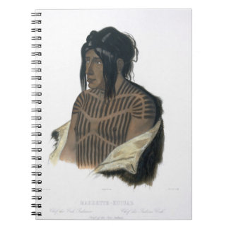 Mahsette-Kuiuab, Chief of the Cree Indians, plate Notebook