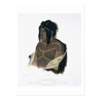 Mahsette-Kuiuab, Chief of the Cree Indians, plate Postcard