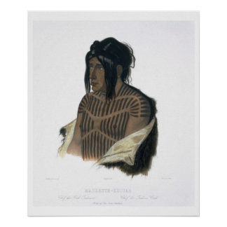 Mahsette-Kuiuab, Chief of the Cree Indians, plate Poster