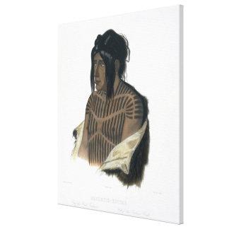 Mahsette-Kuiuab, jefe de los indios del Cree, plac Impresión En Lienzo