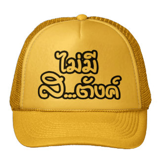 Mai Mee Sa...tang ฿ I Have NO MONEY in Thai ฿ Trucker Hat