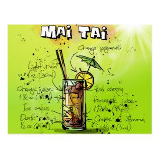 Mai Tai - Cocktail Gift Postcard