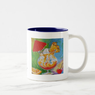Mai Tai & Pineapple Mixed Drink Two-Tone Coffee Mug